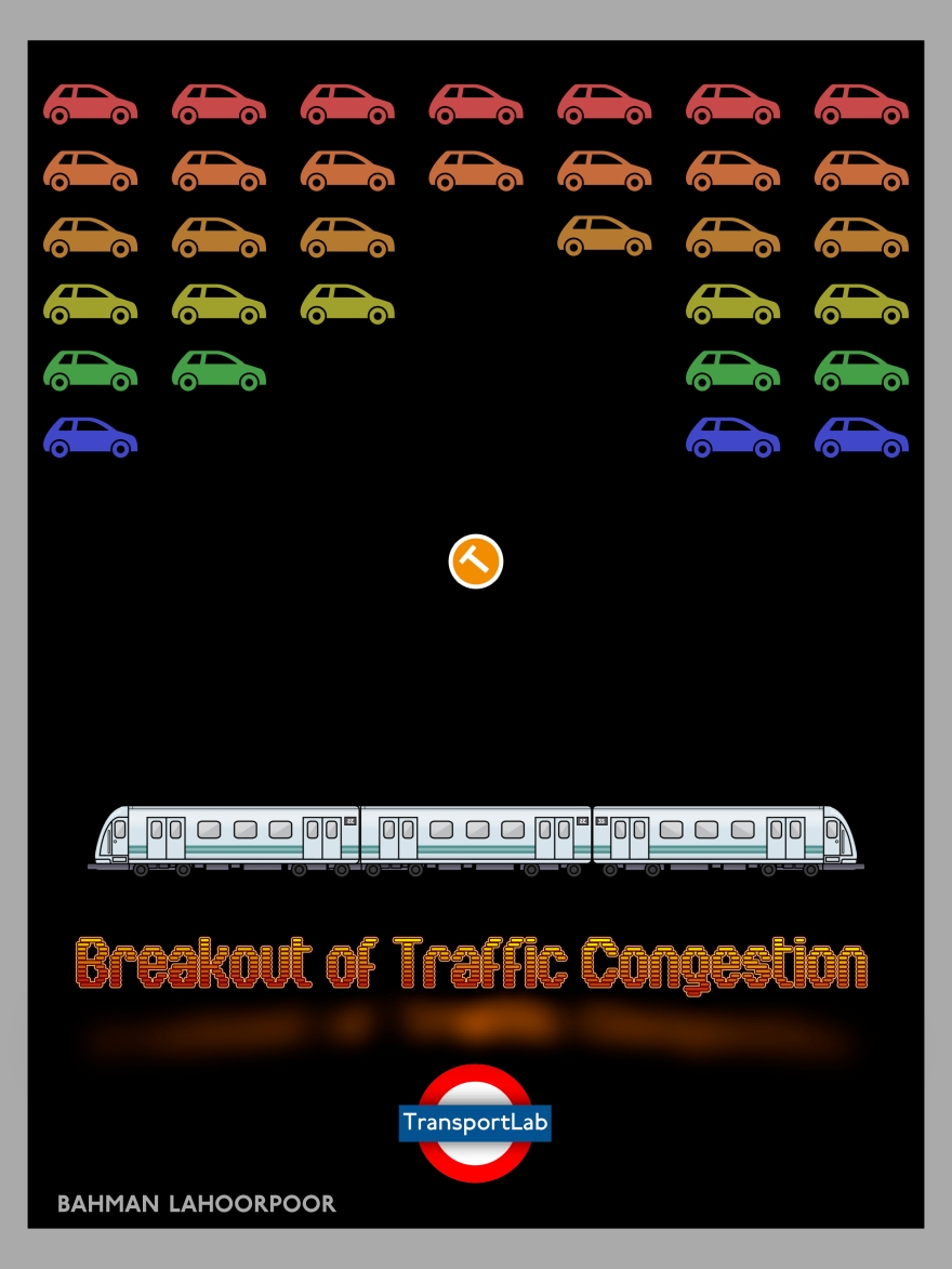Breakout of Traffic Congestion. Created by Bahman Lahoorpoor of TransportLab.